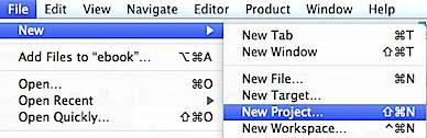 Xcode new project window