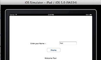 Welcome App in iPad Simulator