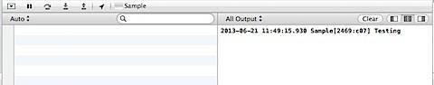 Xcode Debug and Console Windows