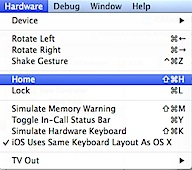 Access Home Screen on iOS Simulator