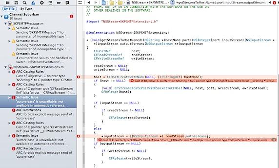 ARC errors in Xcode