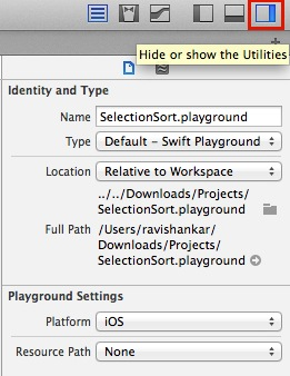 Show the Utilities on Playground