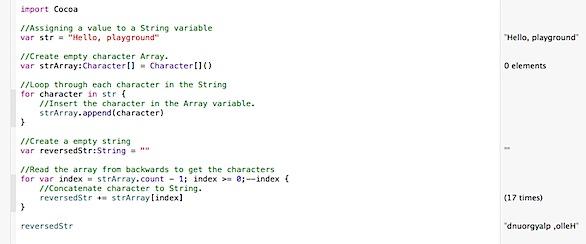 Reverse a String in Swift Programming language