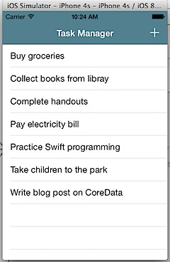 TaskManager using CoreData