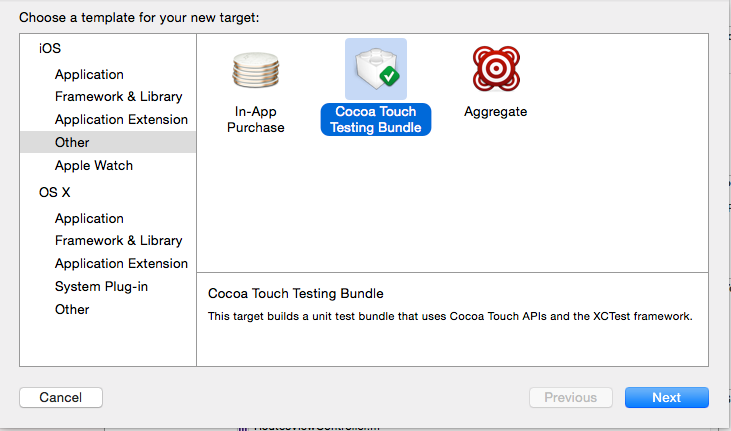 Create new Test Target in Xcode – Ravi Shankar