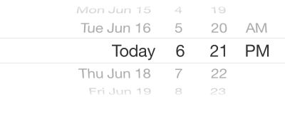 Date and Time mode set for Date Picker