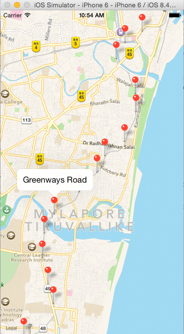 Drawing Lines In Mappoint : Add annotations and polyline to mapview in swift ravi