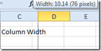 Mouse Drag and Drop Column Width