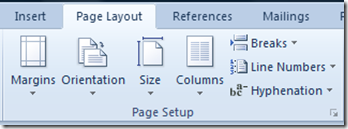 Word 2010 Page Layout