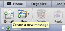 New message Outlook 2011