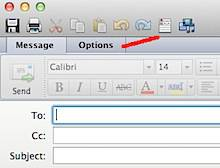 Message Options Outlook 2011