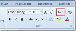 Word 2010 Font section