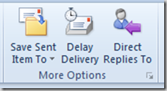 Save Sent Item to Outlook 2010