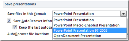 PowerPoint 2010 Save Presentations