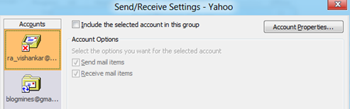 Send/Receive Settings in Outlook 2013 and Outlook 2010A