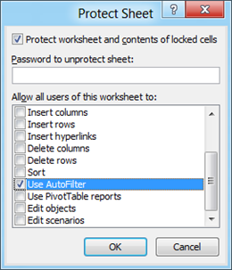 Protect Sheet Excel 2010