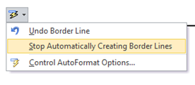 Stop Automatically Creating Border lines