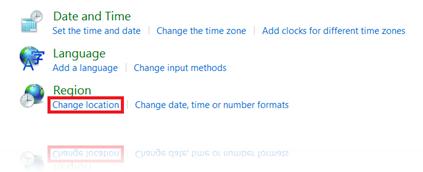 Change location in Windows 8.1