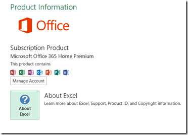 About Excel option in Excel 2013