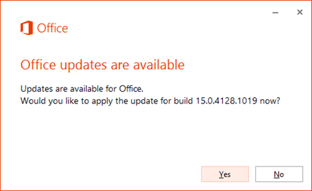 Office 2013  updates are available