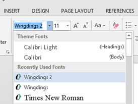 Change Font in Word 2013