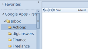 Change Outlook Folder Font Size