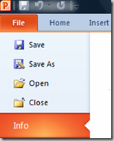 PowerPoint Info menu