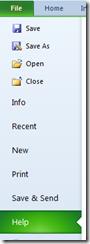 Help menu in Excel 2013 and Excel 2010