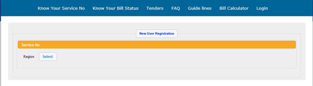 Select region in New User Registration