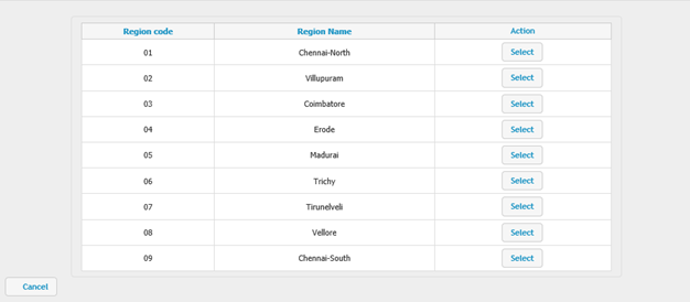 Select region based on location