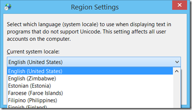 Current system locale on Windows 8.1