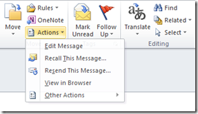 Recall This Message in Outlook 2013 and Outlook 2010