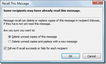 Deleate unread copies of this message