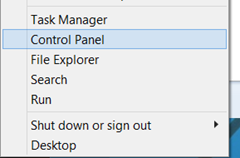 Launch Control Panel in Windows 8.1