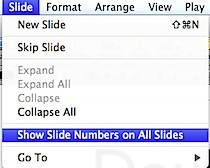 Show Slide Numbers in Keynote