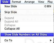 Show Slide Numbers in Keynote