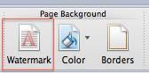 Watermark Word 2011 Mac
