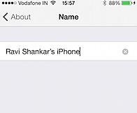 Change name on iPhone
