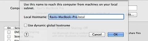 Change bluetooth computer name on Macbook Pro