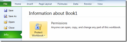 Protect Workbook in Excel 2013 and Excel 2010