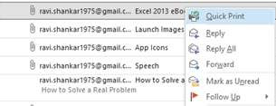 Quick Print attachment in Outlook 2013 and Outlook 2010