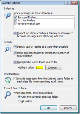display search results as I type