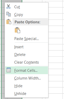 Format Cells in Excel