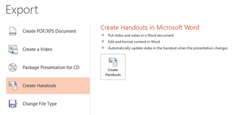 Create Handouts in Microsoft Word