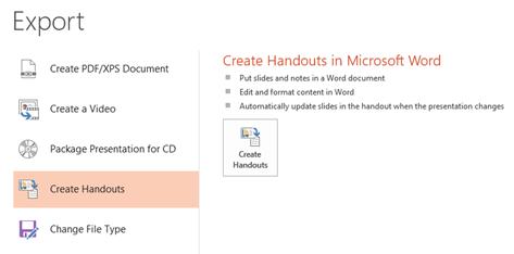 Create Handouts in Microsoft Word