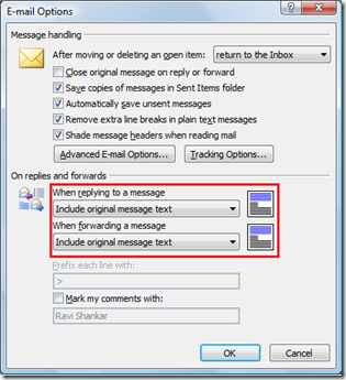 Attach Original message in Outlook 2007