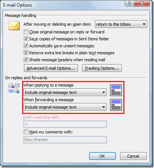 Attach Original message in Outlook 2007