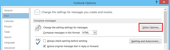 Compose messages settings in Outlook 2013 and Outlook 2010