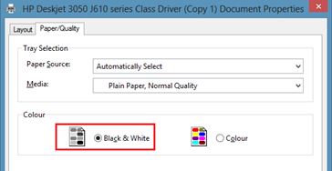 Black and White Print Out in Word 2013