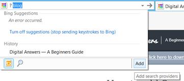 Add Search providers in Internet Explorer